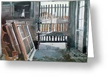 Storm Doors Greeting Card by Donald Maier