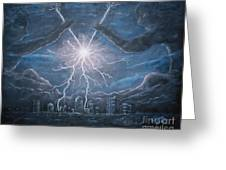 Storm Games Greeting Card by Marlene Kinser Bell