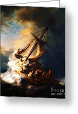 Storm On The Sea Of Galilee Greeting Card by Pg Reproductions