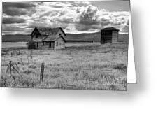 Storm Over Big Sky Montana Greeting Card by Sandra Bronstein