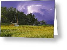 Storm Over Knott's Island Greeting Card by Charles Harden
