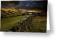 Storm Over Windermere Greeting Card by Meirion Matthias