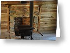 Stove in a Cabin Greeting Card by Jeff Moose