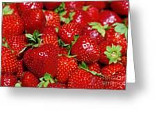 Strawberries Greeting Card by Carlos Caetano