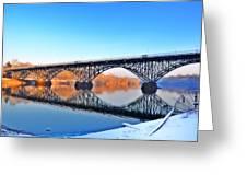 Strawberry Mansion Bridge  Greeting Card by Bill Cannon