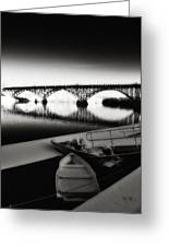 Strawberry Mansion Bridge In Winter Greeting Card by Bill Cannon