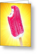 Strawberry Popsicle Greeting Card by Carlos Caetano