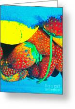 Strawberry Sun  Greeting Card by Kristine Nora