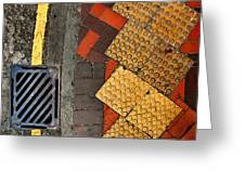 Street Abstract Greeting Card by Joe Bonita
