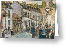Street In Pont Aven Greeting Card by Childe Hassam