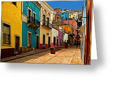 Street Of Color Guanajuato 4 Greeting Card by Olden Mexico