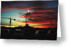 Street Scene At Dusk Greeting Card by Mohammed Nasir