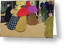 Street Scene Greeting Card by Felix Edouard Vallotton