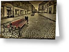 Street Seat Greeting Card by Evelina Kremsdorf