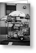 Street Vendor Greeting Card by Darren Martin