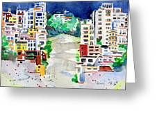 Streets Of San Francsico Greeting Card by Mindy Newman
