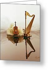 String Duet Greeting Card by Judi Quelland