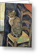 Study Of A Cat Greeting Card by Suzanne Valadon
