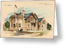 Sub Police Station. Chestnut Hill Pa. 1892 Greeting Card by John Windrim