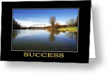 Success Inspirational Motivational Poster Art Greeting Card by Christina Rollo