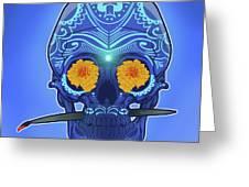 Sugar Skull Greeting Card by Nelson Dedos Garcia