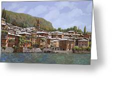 Sul Lago Di Como Greeting Card by Guido Borelli