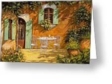 sul patio Greeting Card by Guido Borelli