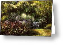 Summer - Landscape - Eve's Garden Greeting Card by Mike Savad