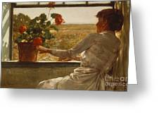Summer Evening Greeting Card by Childe Hassam