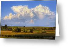 Summer Evening Formations Greeting Card by Bruce Morrison