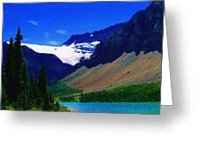 Summer Glacier Over Mountain Lake Greeting Card by Greg Hammond