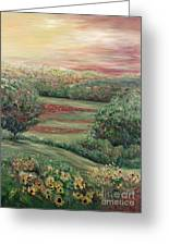 Summer In Tuscany Greeting Card by Nadine Rippelmeyer
