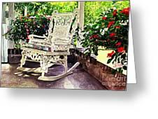 Summer Sun Porch Greeting Card by David Lloyd Glover