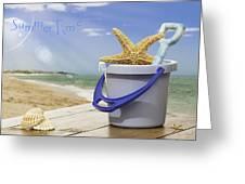 Summer Vacation Greeting Card by Amanda Elwell