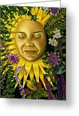 Sun Goddess Greeting Card by Pamela Wells