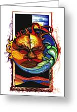 Sun Moon Greeting Card by Anthony Burks Sr
