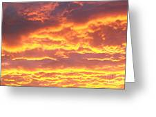 Sun On The Clouds Greeting Card by Marsha Heiken