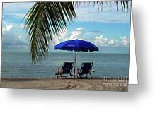 Sunday Morning At The Beach In Key West Greeting Card by Susanne Van Hulst