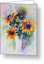 Sunflower Bouquet Greeting Card by Corynne Hilbert