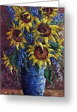 Sunflower Bouquet Greeting Card by David G Paul