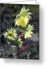 Sunflower Dream Greeting Card by Tom Romeo