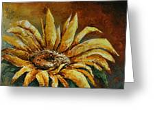 Sunflower Study Greeting Card by Michael Lang