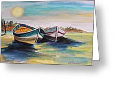 Sunlight On Flat Water Greeting Card by John  Williams