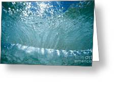 Sunlit Wave Greeting Card by Vince Cavataio - Printscapes