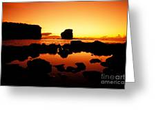 Sunrise At Puu Pehe Greeting Card by Ron Dahlquist - Printscapes