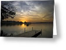 Sunrise At The Reservoir Greeting Card by Ng Hock How
