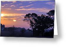 Sunrise In Indiana Greeting Card by Brittany H