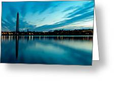 Sunrise In The Capital Greeting Card by David Hahn