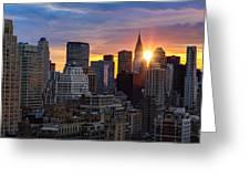 Sunrise Over Chrysler Greeting Card by Janet Fikar