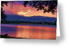 Sunset 6.27.10 - 28 Greeting Card by James BO  Insogna